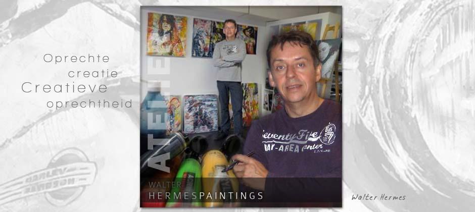 Walter Hermes, eigenaar van hermespaintings.nl en veelgevraagd figuratief kunstschilder