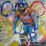 High Resolution Art Downloads - hermespaintings.nl - BMX Biker - Olympic Sports - Walter Hermes