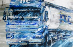 Portfolio hermespaintings.nl - vrachtwagen combinatie ITC Holland Transport - vloeiend vervoer - Walter Hermes