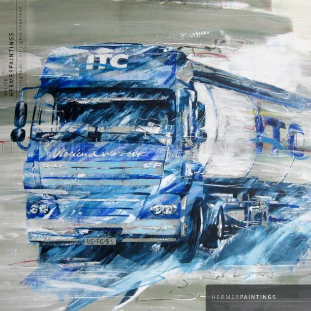 Portfolio hermespaintings.nl - vrachtwagen combinatie ITC Holland Transport - Walter Hermes
