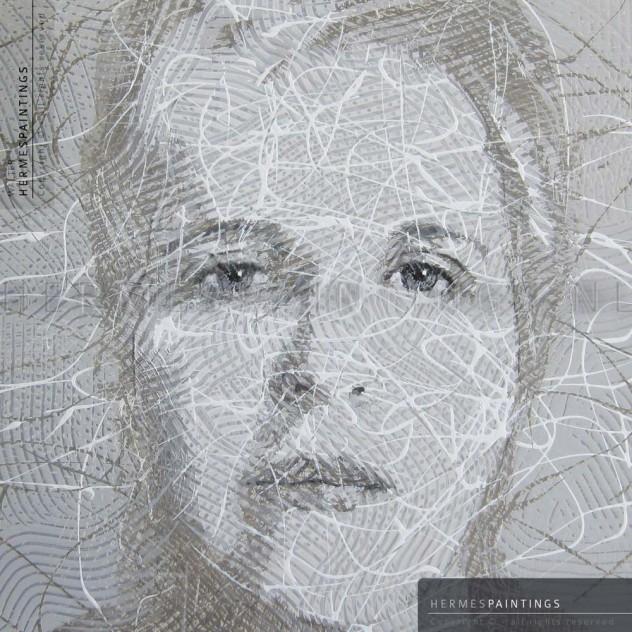 Mirjam Brouwer - portret door Walter Hermes - Hermespaintings.nl - figuratief kunstschilder