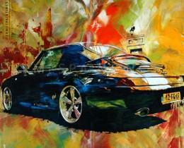 Portfolio hermespaintings.nl - Porsche schilderij - USA Cars - Marc van Ravesteijn - Walter Hermes in opdracht