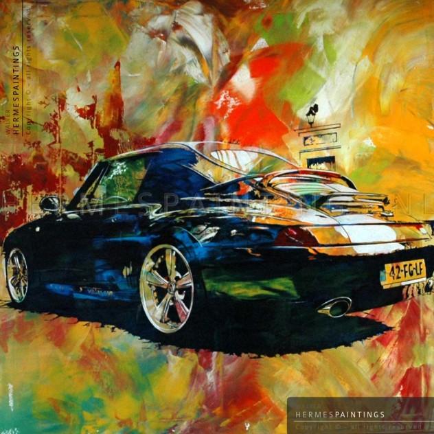 Portfolio hermespaintings.nl - Porsche schilderij - USA Cars - Mark van Ravesteijn - Walter Hermes in opdracht