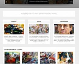 Printscreen vernieuwde website hermespaintings door Samen-1 Communicatie